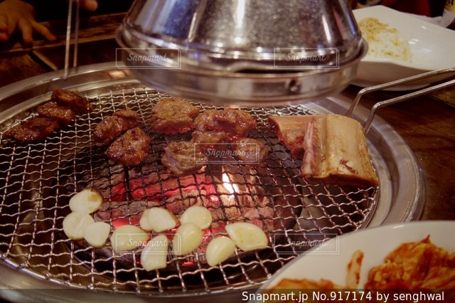 韓国のカルビ焼肉の写真・画像素材[917174]