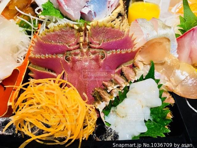 ウチワエビのお刺身♪の写真・画像素材[1036709]