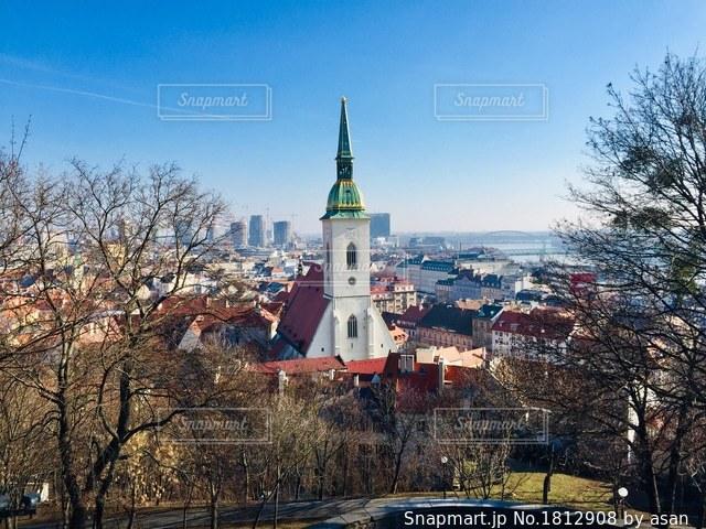 スロバキア ブラチスラバの2月の風景♪の写真・画像素材[1812908]