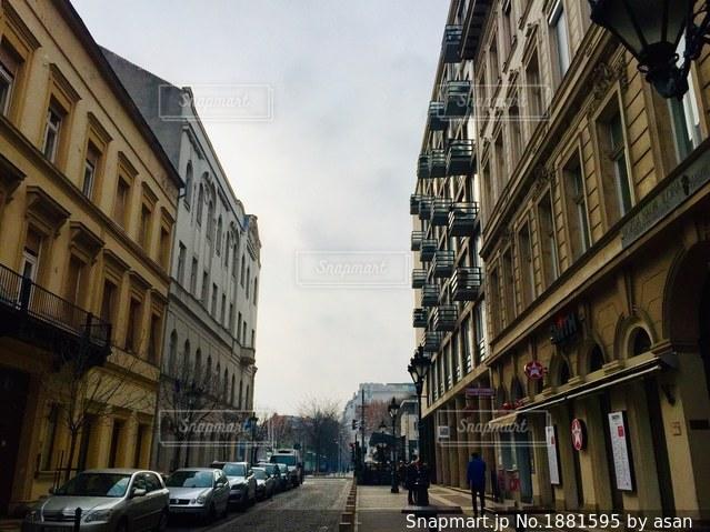 ハンガリー ブダペストの街中の風景🇭🇺の写真・画像素材[1881595]