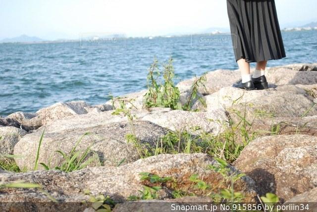 水の体の横にある岩のビーチ - No.915856