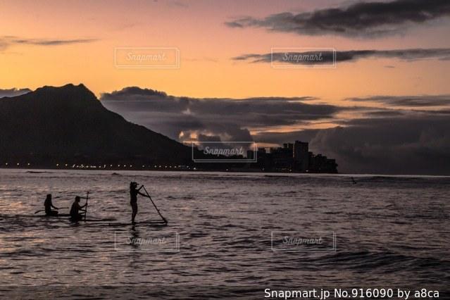Waikikiサンライズの写真・画像素材[916090]