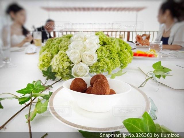 食事会のテーブル装飾の写真・画像素材[826361]