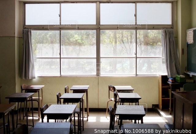 誰もいない教室の写真・画像素材[1006588]