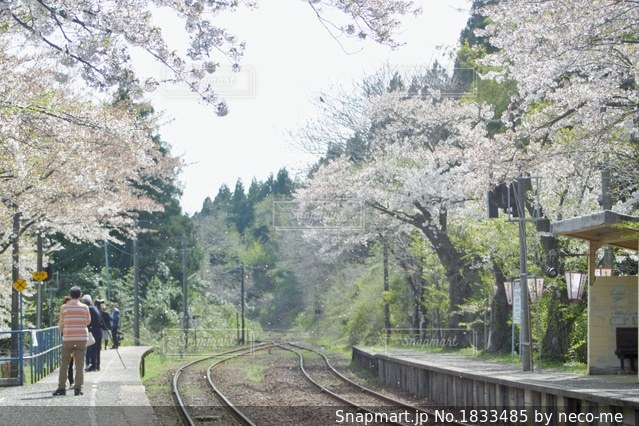 能登さくら駅の写真・画像素材[1833485]