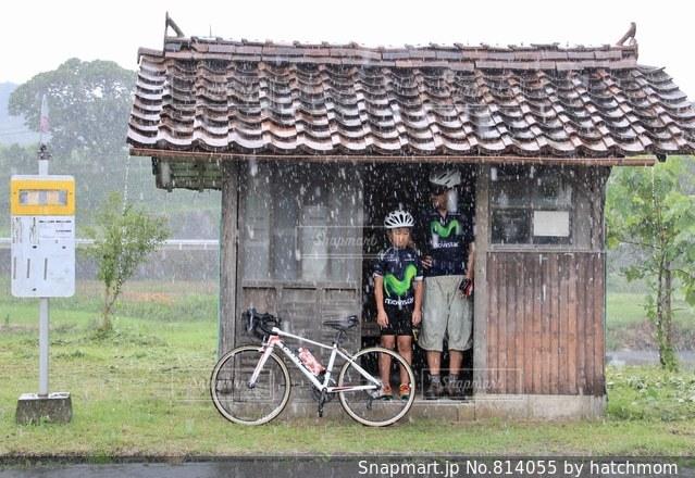 雨宿りの写真・画像素材[814055]