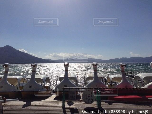 北海道支笏湖の写真・画像素材[883908]