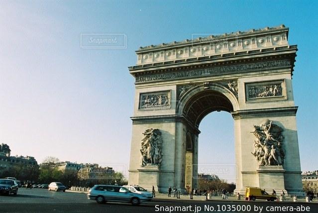 パリの凱旋門の写真・画像素材[1035000]