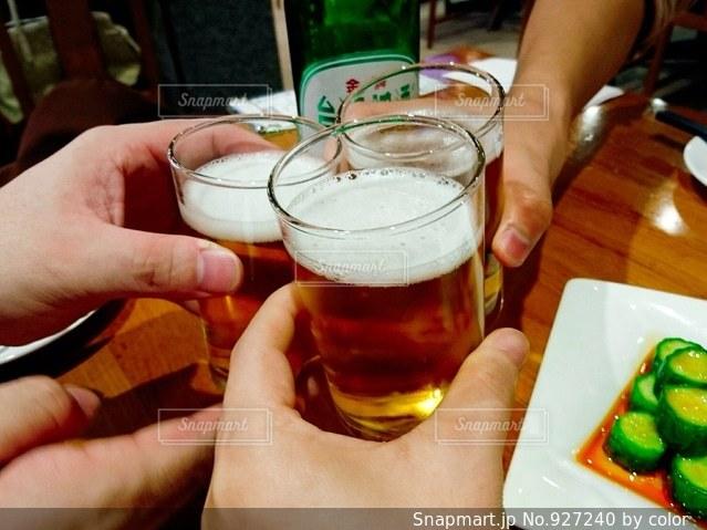 とりあえずビールの写真・画像素材[927240]