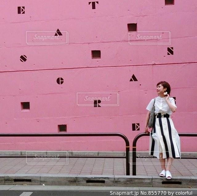 アテネフランセの壁💘の写真・画像素材[855770]