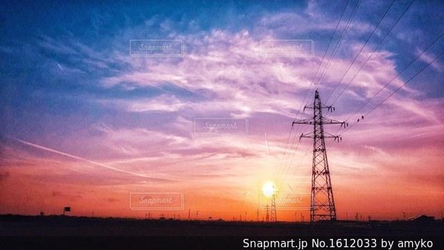 夕焼け空の写真・画像素材[1612033]
