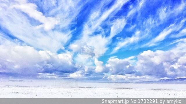 冬の晴れた日の写真・画像素材[1732291]