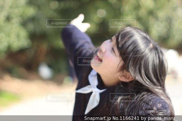 い〜っぱいのえがおの写真・画像素材[1166241]