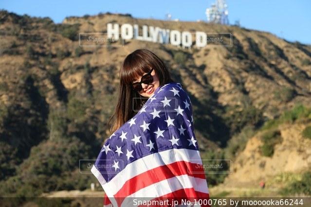 ハリウッドサインの写真・画像素材[1000765]