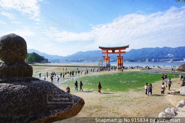 宮島の桟橋の写真・画像素材[915834]