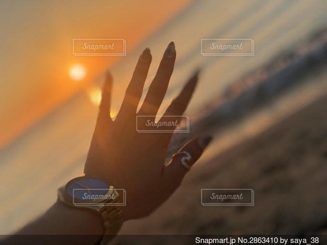 夕日の写真・画像素材[2863410]