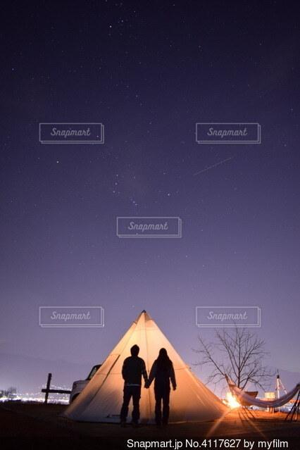 ほったらかしキャンプ場の写真・画像素材[4117627]