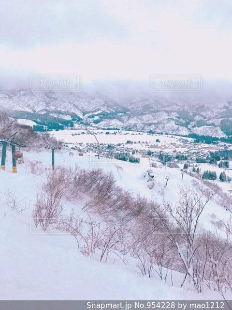 雪に覆われた斜面の写真・画像素材[954228]