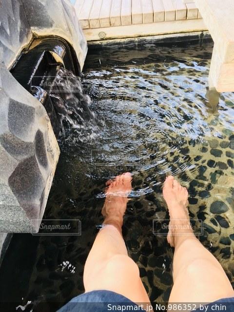足湯の写真・画像素材[986352]