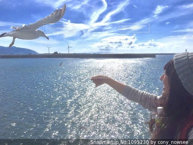 奥尻島への船上の写真・画像素材[1095230]