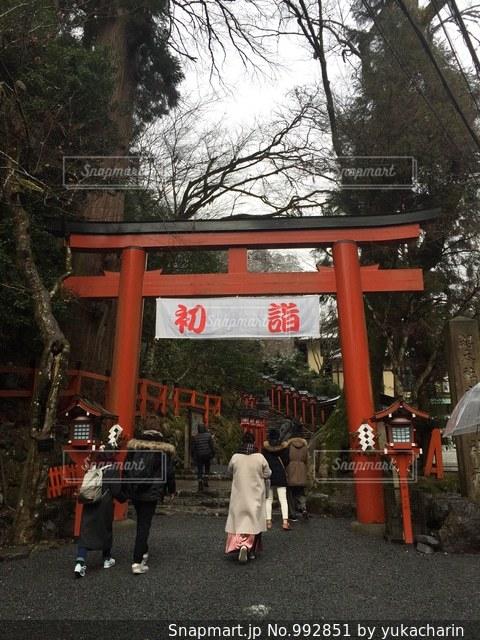 貴船神社の初詣の写真・画像素材[992851]