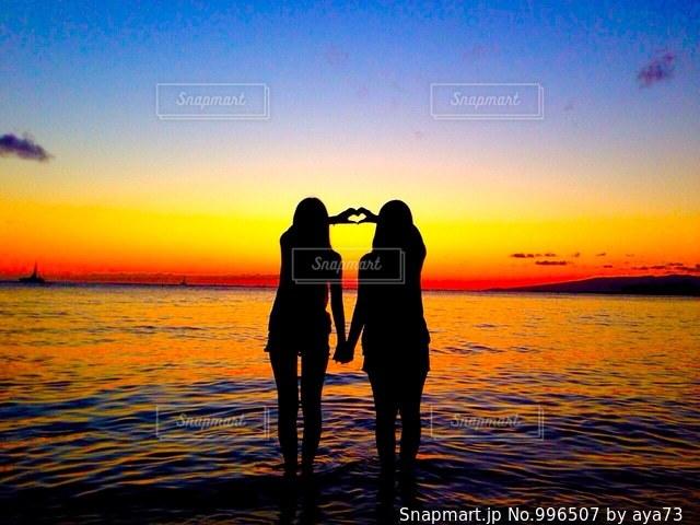 waikiki beach sunset の写真 画像素材 996507 snapmart スナップ