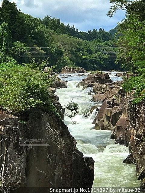 岩手県の厳美渓の写真・画像素材[1014897]