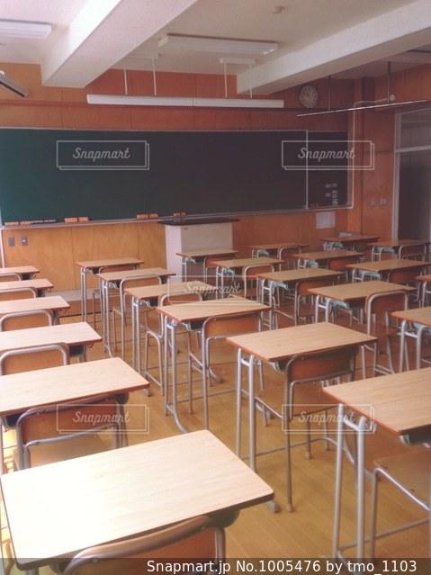 放課後の教室の風景の写真・画像素材[1005476]