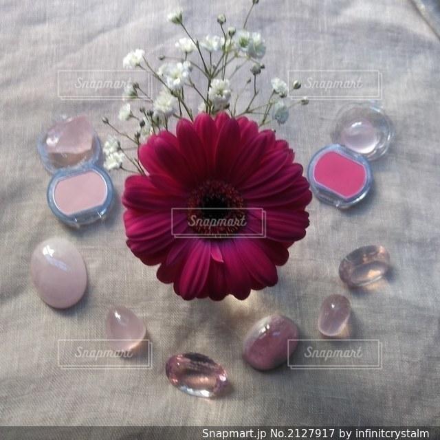 ピンク花コスメの写真・画像素材[2127917]