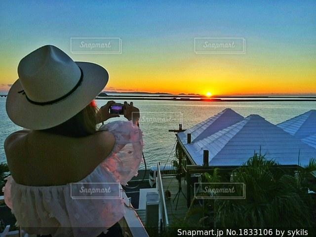 沖縄サンセットの写真・画像素材[1833106]