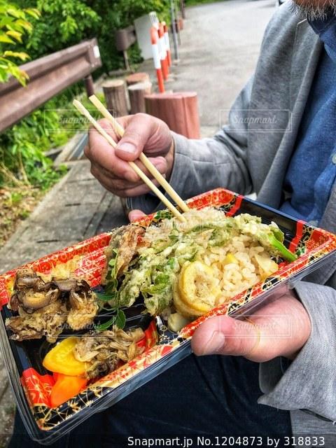 山菜弁当🍱の写真・画像素材[1204873]