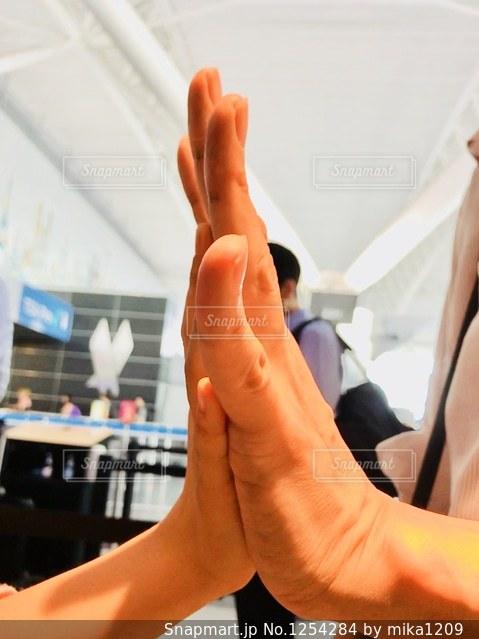 手の大きさ比べの写真・画像素材[1254284]
