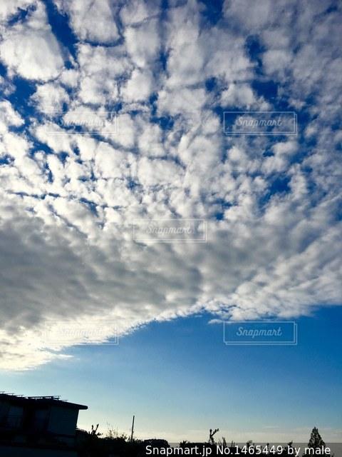 白い雲の写真・画像素材[1465449]