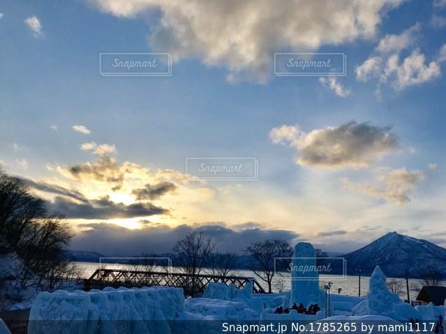 支笏湖の景色の写真・画像素材[1785265]