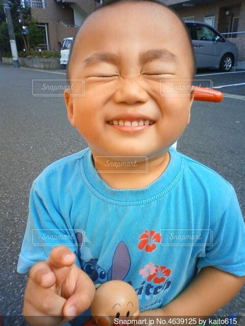 ピカピカ 美光 丸坊主くんの写真・画像素材[4639125]
