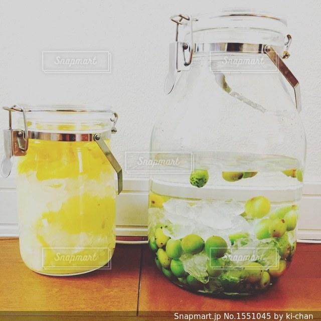 梅酒&レモン酒の写真・画像素材[1551045]