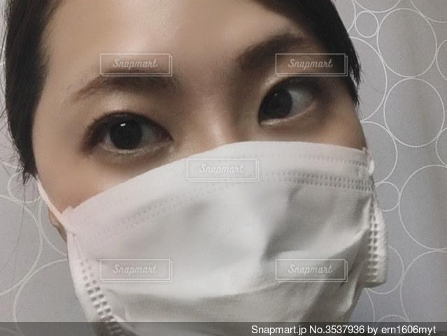 マスク女子の写真・画像素材[3537936]