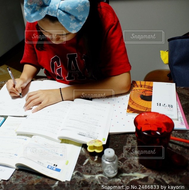 勉強中の写真・画像素材[2486833]