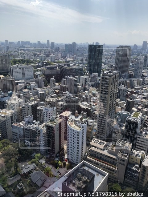 東京タワーからの景色の写真・画像素材[1798315]