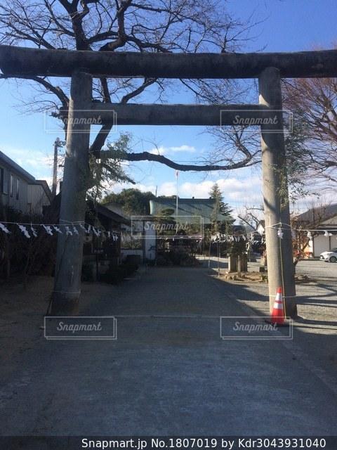 福島県南相馬市原町区の鎮守 三嶋神社の鳥居の写真・画像素材[1807019]