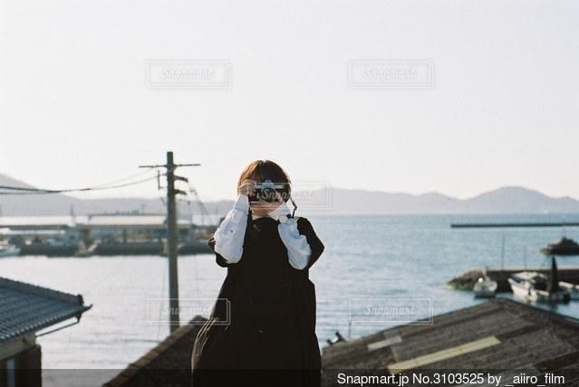 海の見える街の写真・画像素材[3103525]
