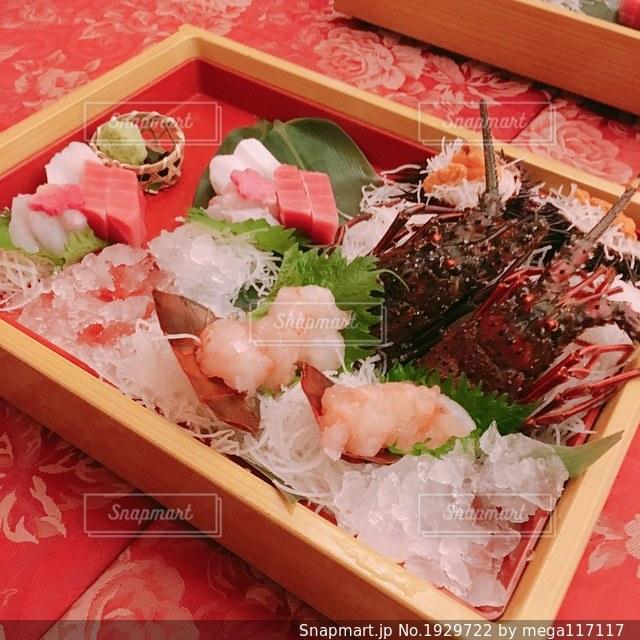 食品の多くに満ちてピンク ボックスの写真・画像素材[1929722]