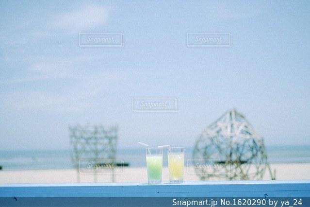 海辺のカフェの写真・画像素材[1620290]