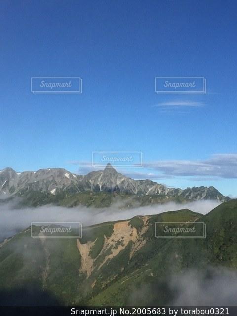表銀座からの槍ヶ岳の写真・画像素材[2005683]