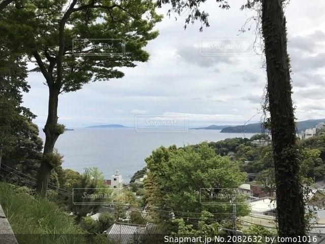 熱海 伊豆山神社から見た海の景色の写真・画像素材[2082632]