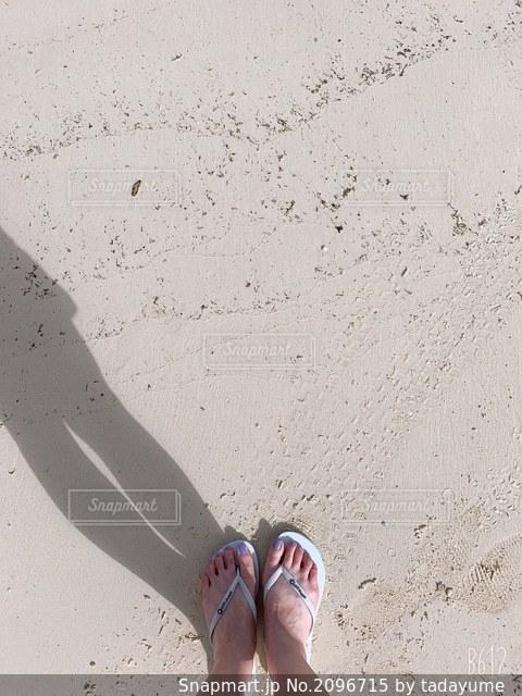 白い砂浜の写真・画像素材[2096715]