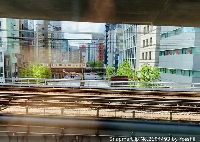 新幹線からみた電車の写真・画像素材[2104493]