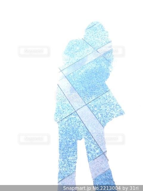 自分の影の写真・画像素材[2213004]