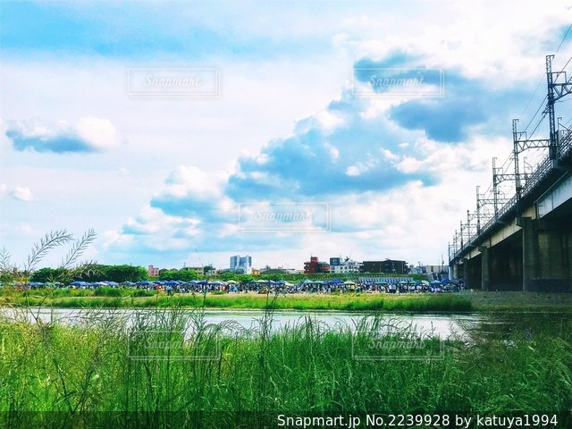 川崎と世田谷を隔てる多摩川(2)の写真・画像素材[2239928]