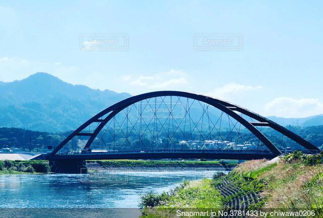 滋賀県大津市 瀬田川令和大橋の写真・画像素材[3781433]
